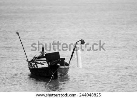 Old boat. - stock photo
