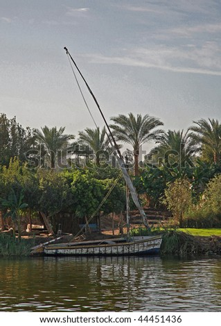 Old boat on the Nile - stock photo