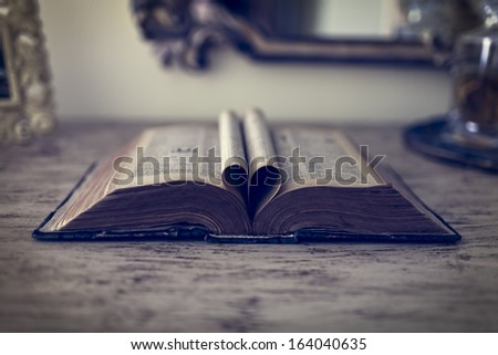 old book  - stock photo
