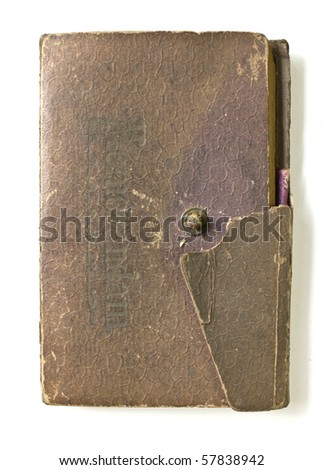 Old book (Ancient book) isolated on white background - stock photo