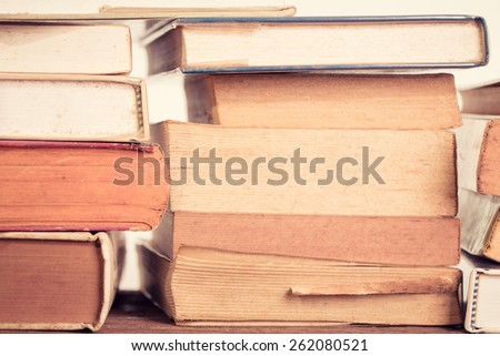 Old book background. Vintage filter. - stock photo