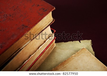 Old Book closeup - stock photo