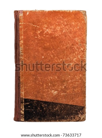 Old book cover on white