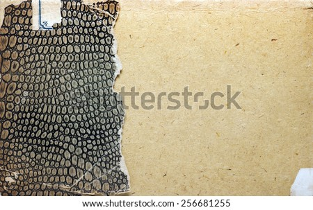 Old book cover, vintage texture with imitation leather  - stock photo