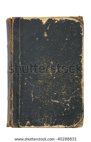 Old Book Cover with clipping path - stock photo