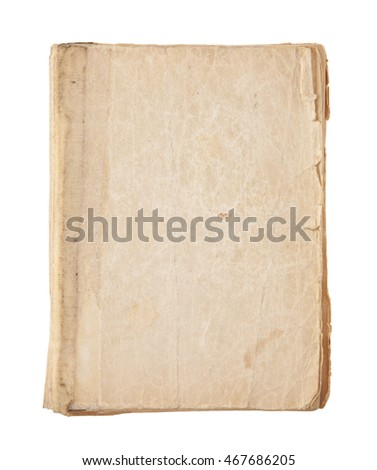 Old Book Cover with clipping path