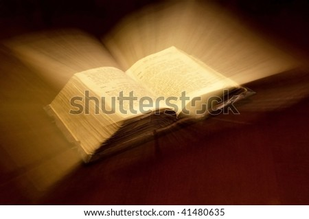 Old book: holy Bible - stock photo