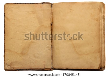 Old book in vintage style  - stock photo