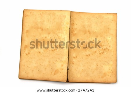 Old book isolated against a white background - stock photo