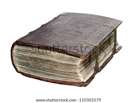 Old book isolated background - stock photo