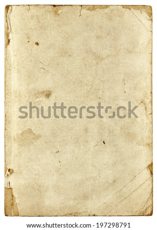 Old book isolated on white background - stock photo