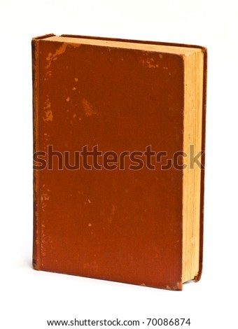 Old book isolated on white background.