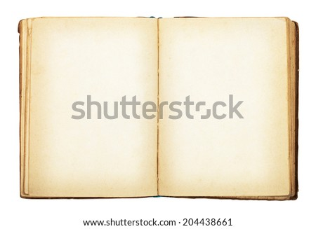 Old book isolated on white background. Clipping Path - stock photo