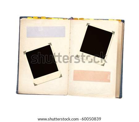 Old book. Object isolated over white - stock photo