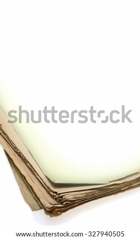 Old Book, old paper book - stock photo