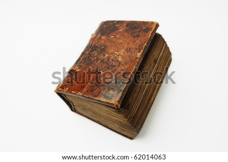 old book on a white - stock photo