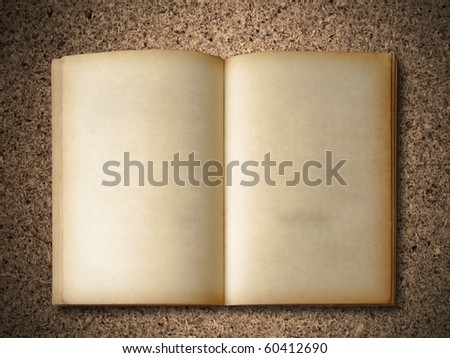 Old Book on particle board background