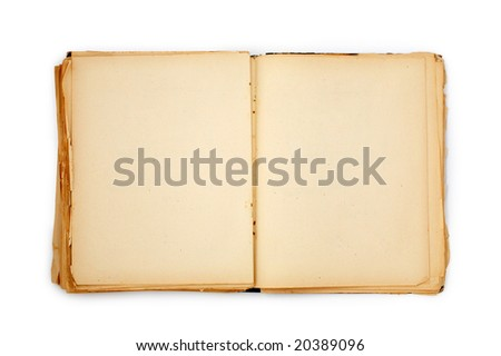 old book on the white background with clipping path - stock photo