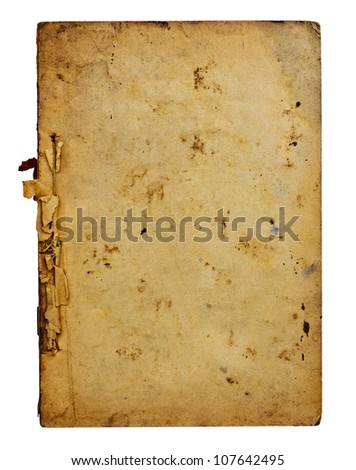 Old book on white background.