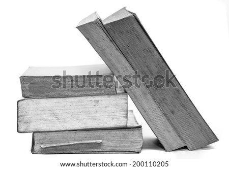Old book on white background. - stock photo