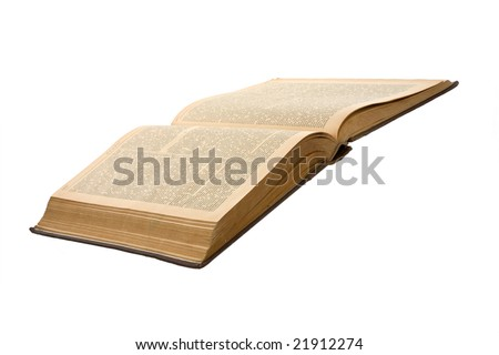 Old book on white background. Publishing 19 ages