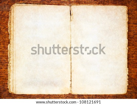 old book on wooden background - stock photo