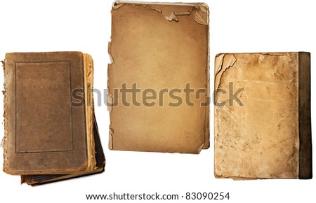 Old book pages - stock photo