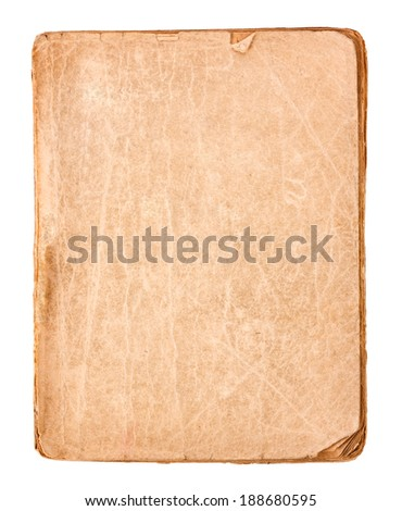 Old book pages isolated on white background - stock photo