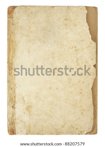 old book pages isolated on white with clipping path