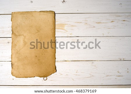 Old book pages with shadow. With clipping path.