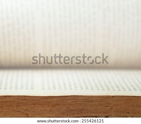 Old Book Selective focus - stock photo