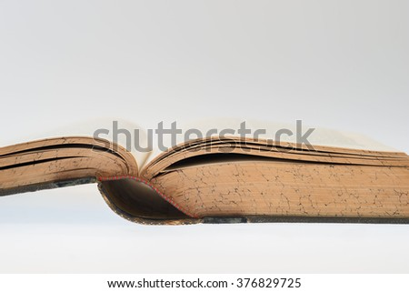 Old Book, Selective focus - stock photo