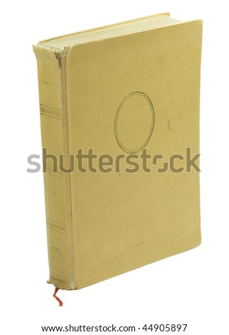 old book standing isolated on white background