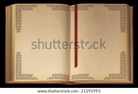 Old Book with decorated pages - stock photo