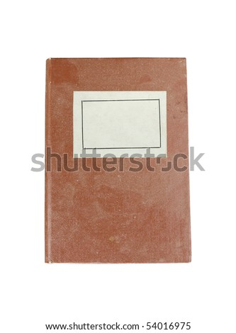 old book with label isolated - stock photo
