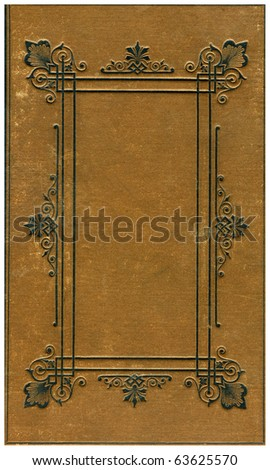 Old bookes cover isolated on White. - stock photo