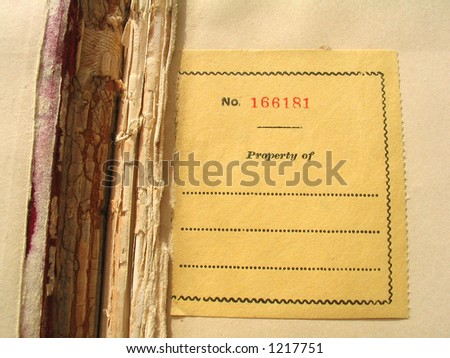 Old Bookplate - stock photo