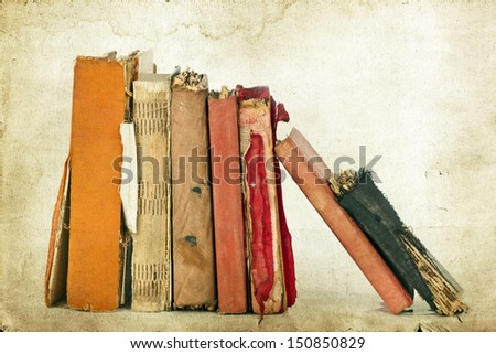 Old books - stock photo