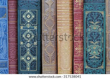 old books. - stock photo