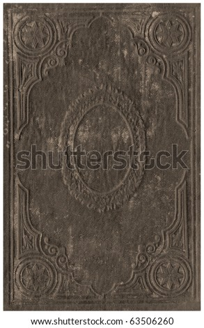 Old books cover isolated on White. - stock photo