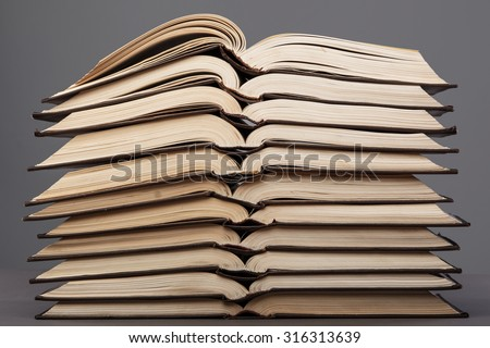 Old books from one series - stock photo
