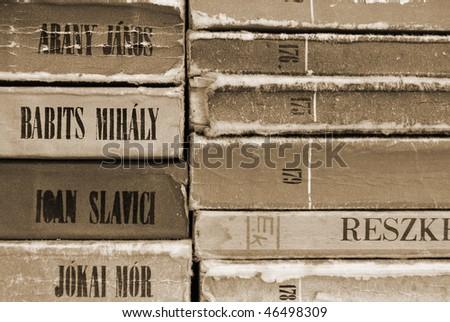 Old Books texture - stock photo