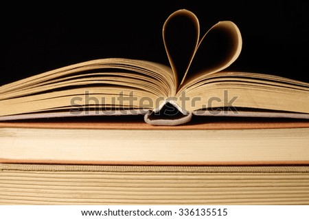 old books with heart
