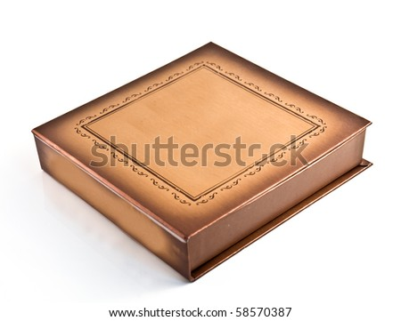 old box, blank for your text  used for background or web - stock photo