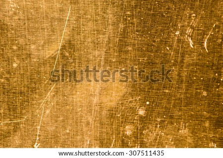 Old brass plate background - stock photo