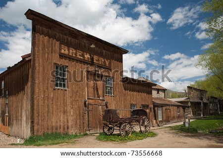 Old brewery in historic town Virginia City, Montana - stock photo