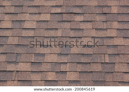 Old brick roof tiles texture - stock photo