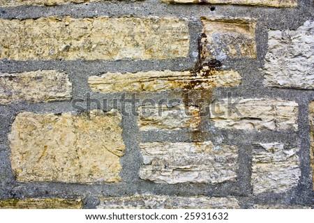 Old brick-wall - stock photo