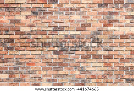 Old brick wall. Abstract background with old brick wall., Soft focus - stock photo