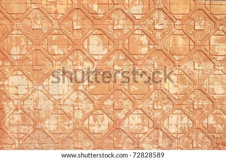 Old brick wall Art&Texture, Thailand - stock photo